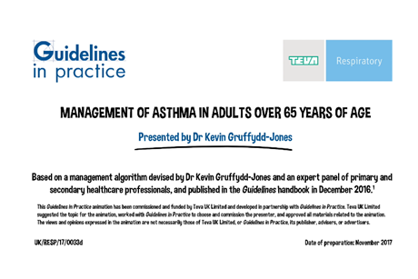 Management of asthma in adults over 65 years of age